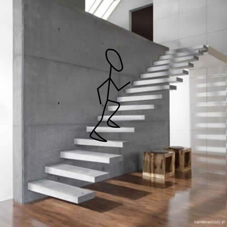 niebezpieczne schody