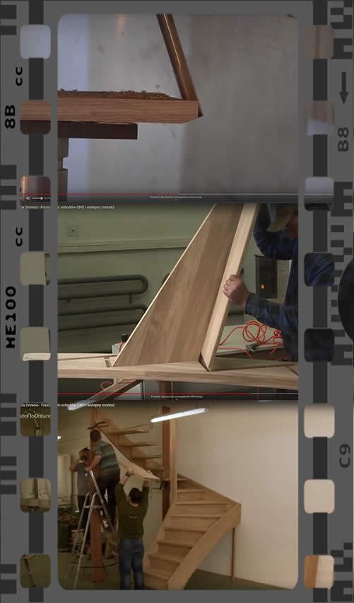 cnc schody - wycinanie i montaż