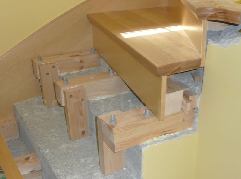 Obłożenie betonu drewnem