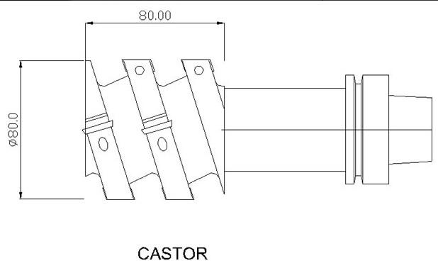 CNC do schodów castor