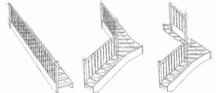 Czy schody proste zajmują mniej miejsca od zabiegowych