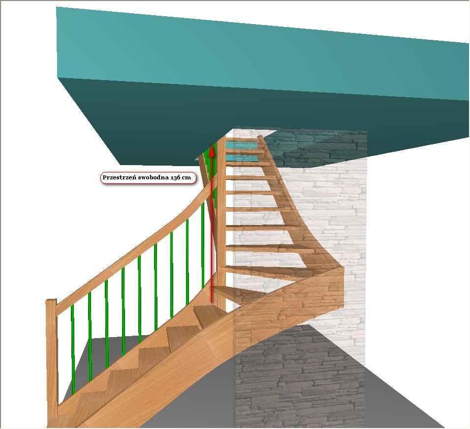 Otwór pod schody zabiegowe L