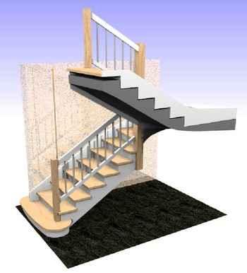 projekty schodów na beton