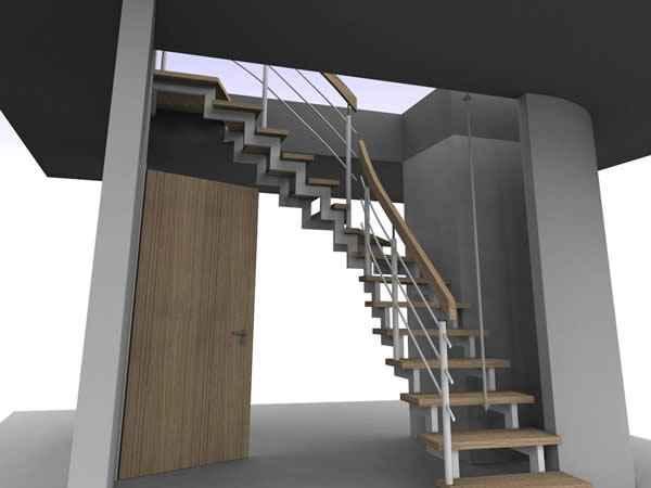 schody metalowe ze szkłem