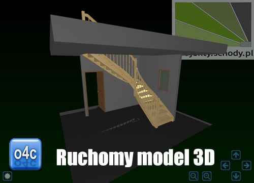 model 3D schodów