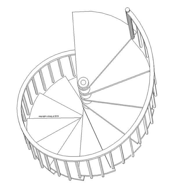 Kręcone schody strych