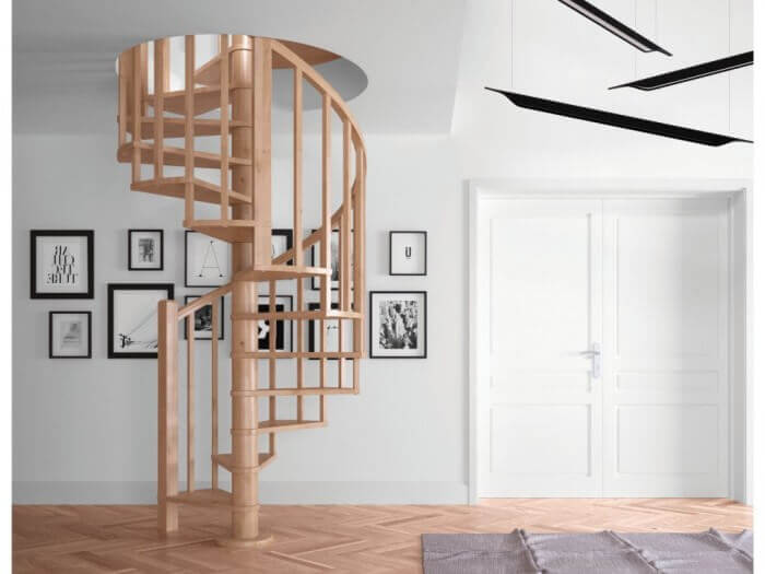 Kręte schody drewniane Rintal